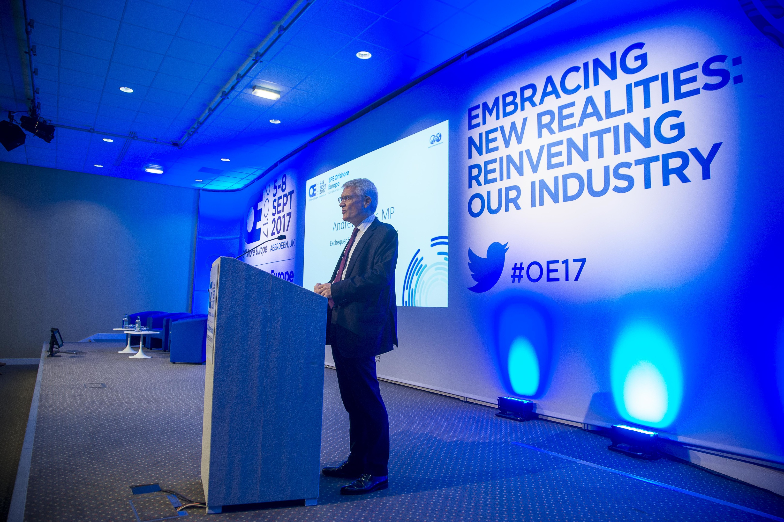 Andrew Jones, Exchequer Secretary to the Treasury, speaking at Offshore Europe.