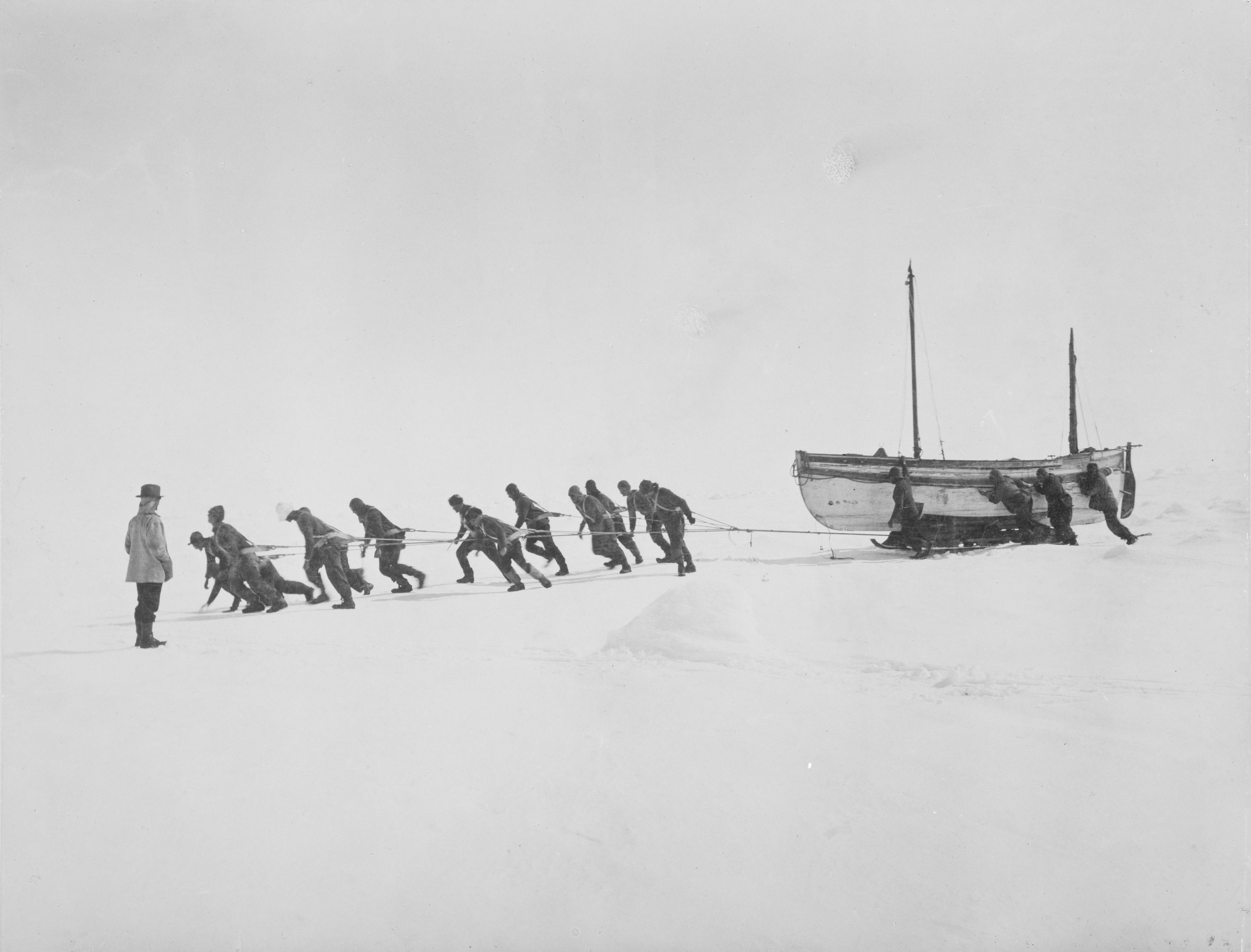 Frank Hurleys pictures of the Ernest Shackleton expedition 1914 to Antarctica. These are images of the Enduring Eye exhibition at the National Library of Scotland.