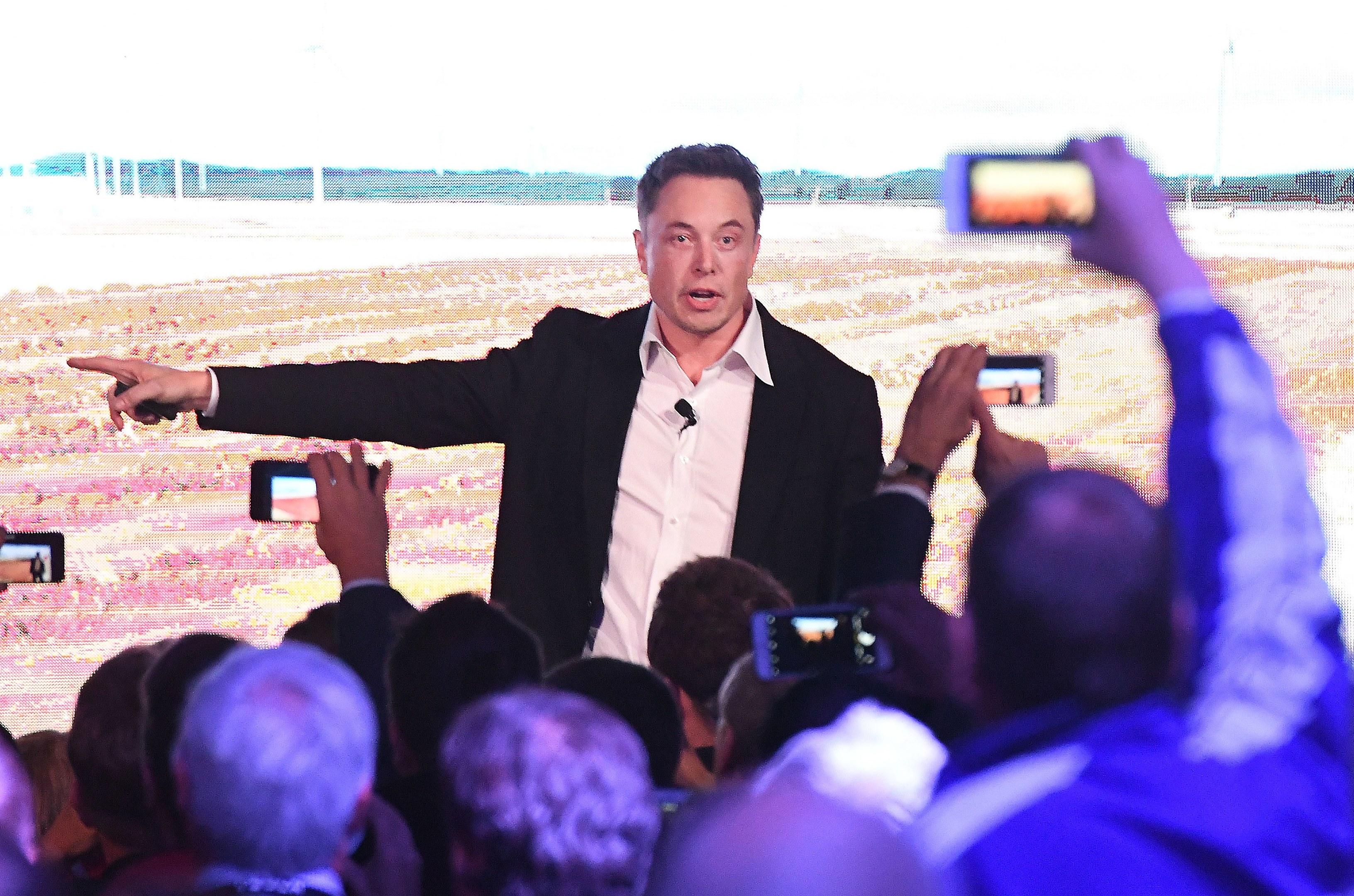 Tesla's Elon Musk.