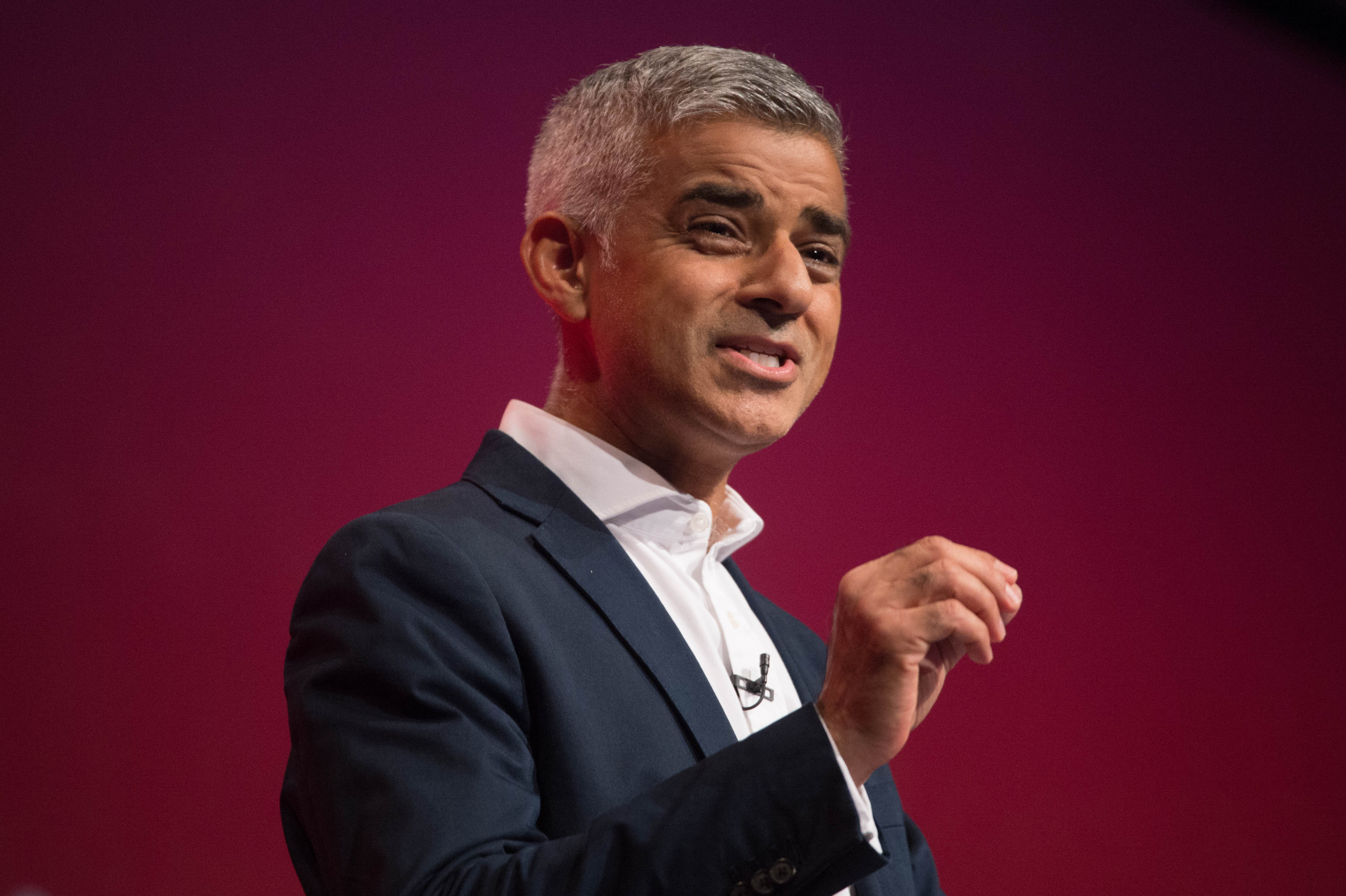 Mayor of London Sadiq Khan addressing the Labour Party annual conference at the Brighton Centre, Brighton. PRESS ASSOCIATION Photo. Picture date: Monday September 25, 2017. See PA story LABOUR Khan. Photo credit should read: Stefan Rousseau/PA Wire