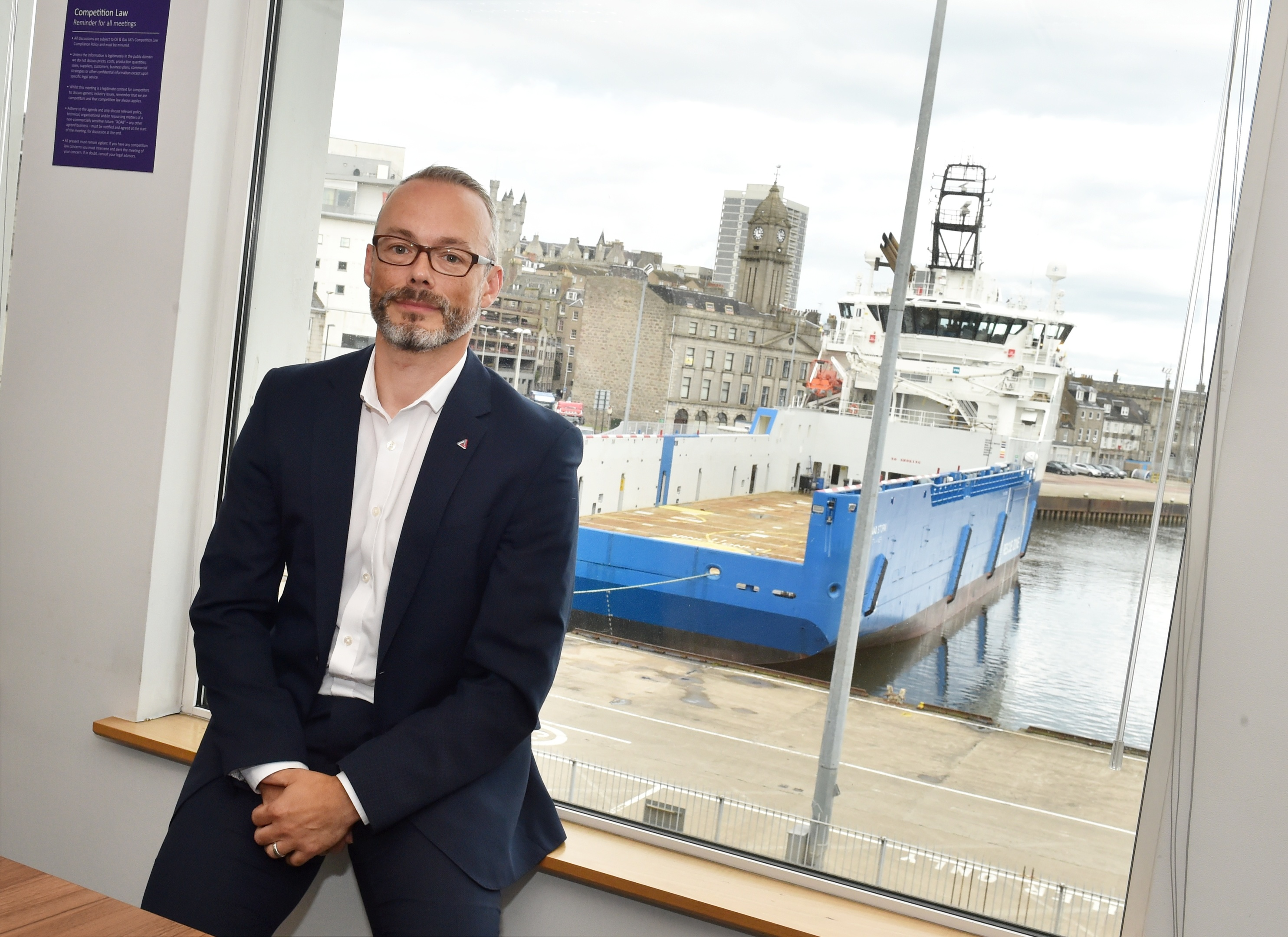 Chief Executive Les Linklater at Step Change in Safety at The Exchange 2 in Market Street, Aberdeen. Picture by COLIN RENNIE   October 9 2017.