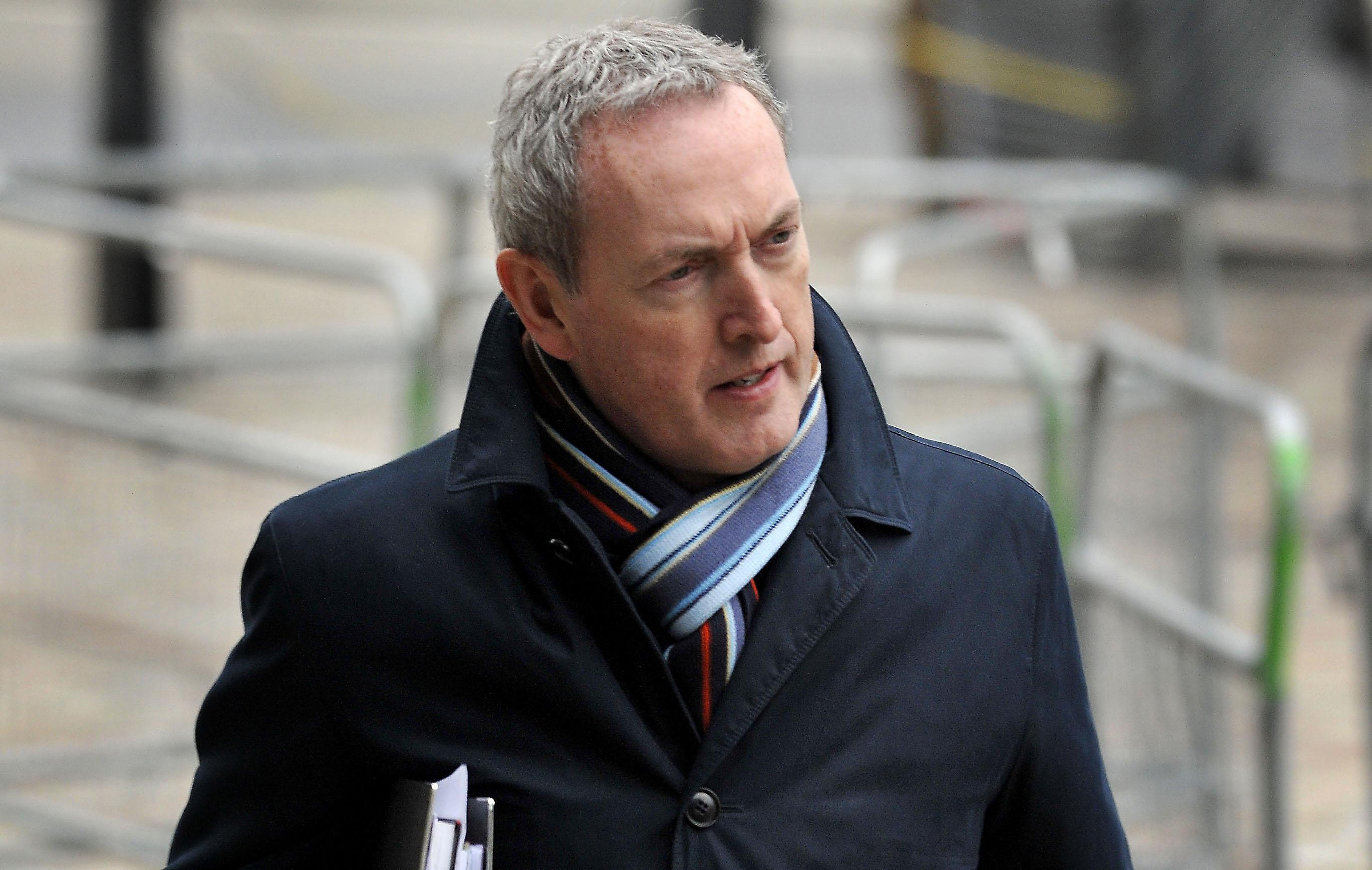 Former defence secretary John Hutton arrives for the Iraq Inquiry at the QEII Conference Centre in London.
