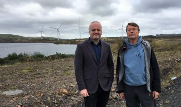 Mark Ruskell with Dave Batchelor at the site.
