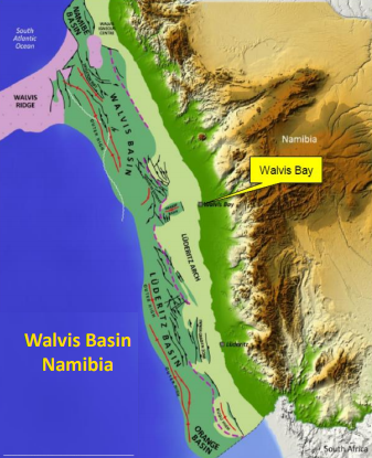 The Cooper block is in the Walvis Oil Basin