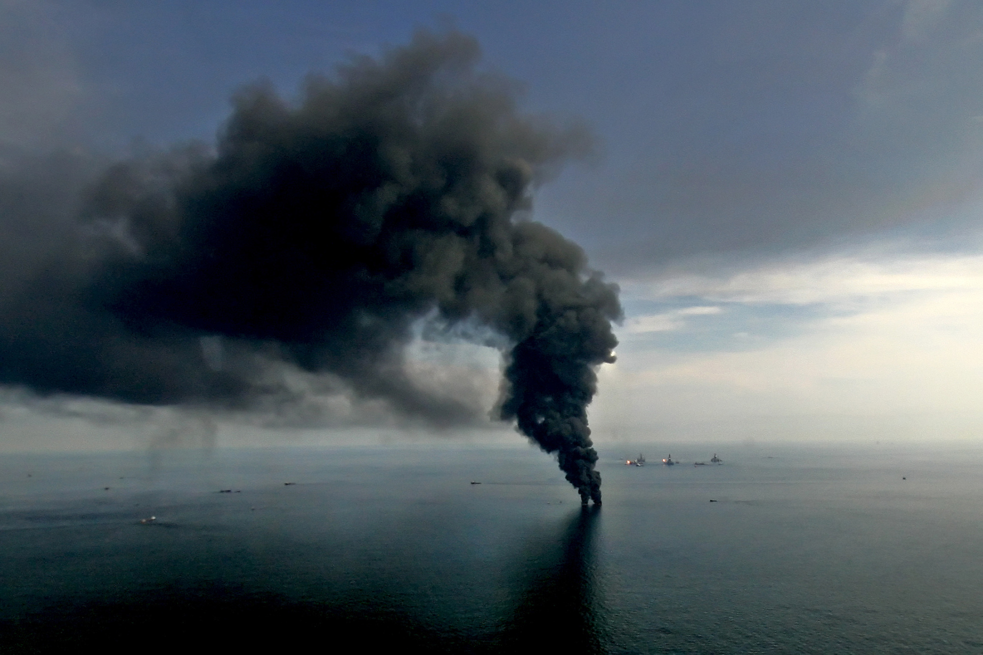 The 2010 Deepwater Horizon disaster in the Gulf of Mexico.