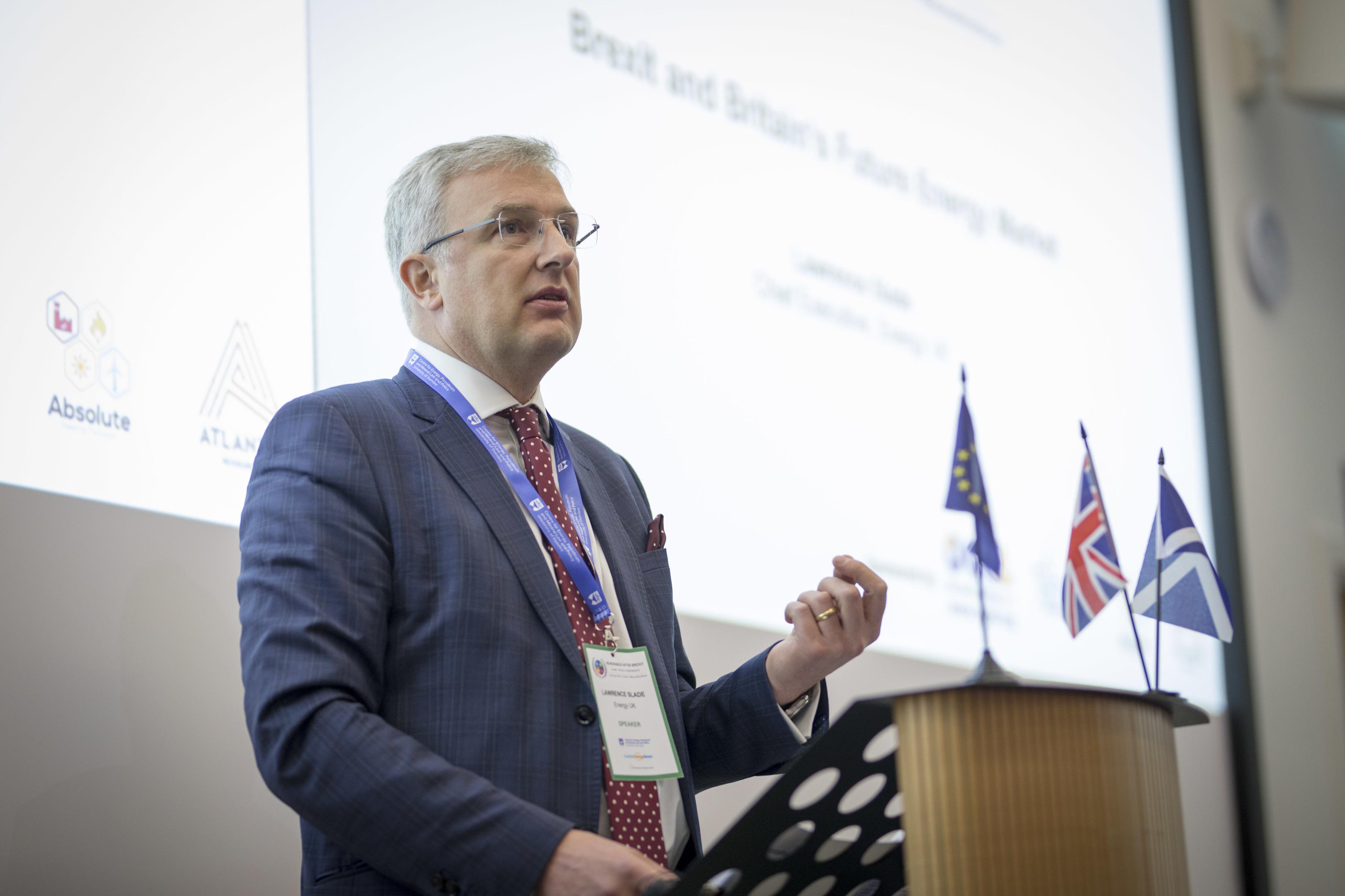 Energy UK chief executive Lawrence Slade. Photography by Dundee University