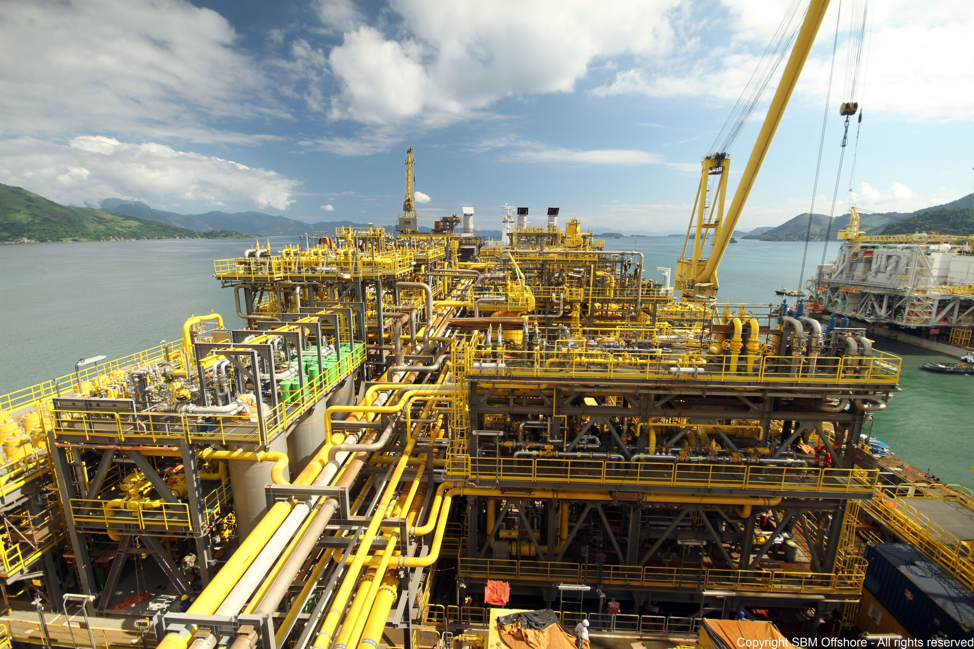 ExxonMobil's Liza field forms part of the 6billion barrel Stabroek block. Pic: An SBM Offshore FPSO