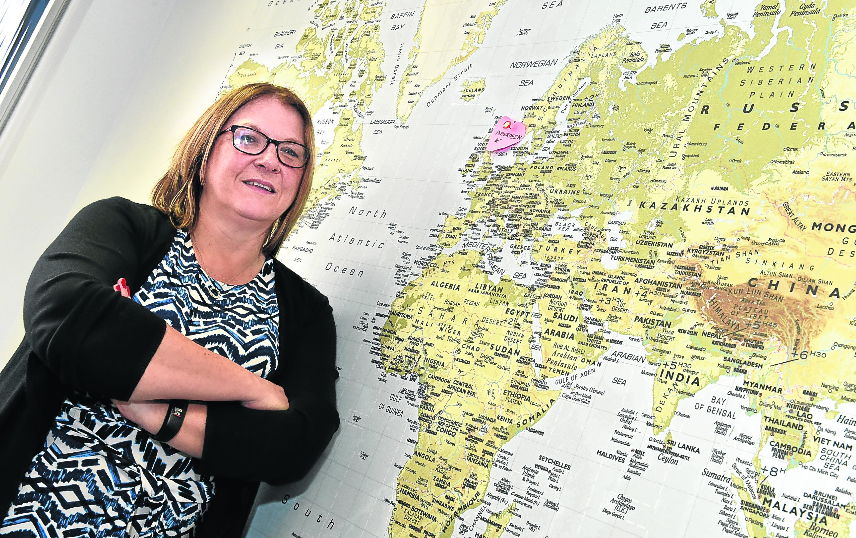 Aberdeen airport managing director Carol Benzie
