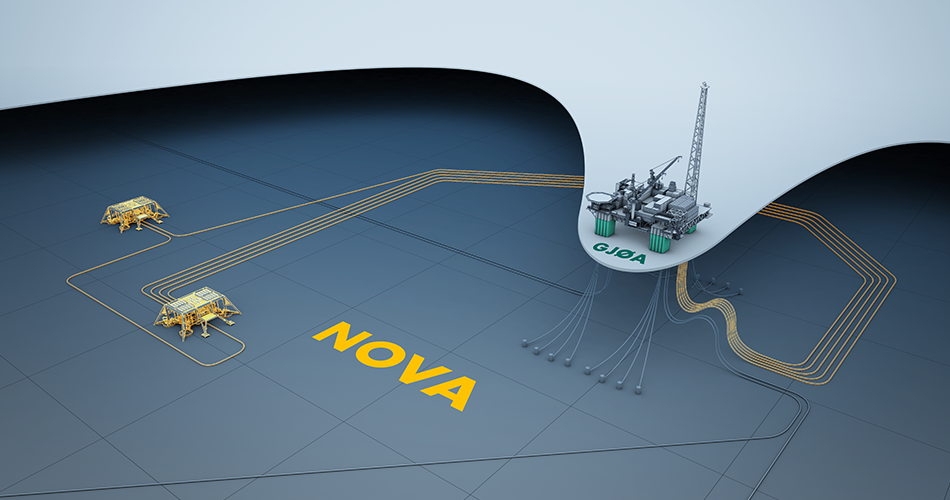 An artists rendering of the Nova field