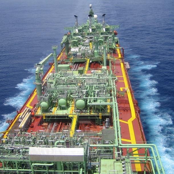 Berge Helene out at sea