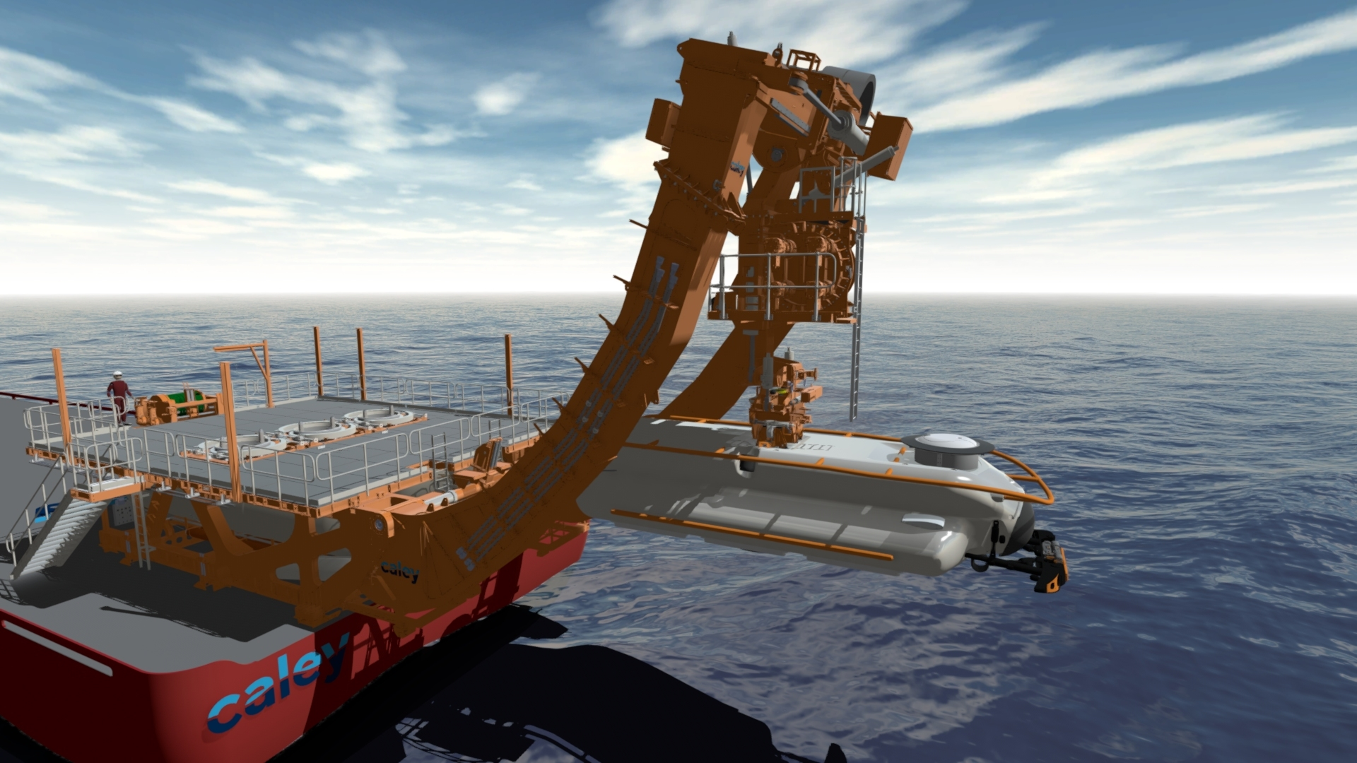 Caley's Submarine Launch and Recovery System (LARS) built for JFD's 3rd Generation Flyaway Submarine Rescue System.