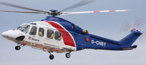 A Bristow-operated AW139 helicopter