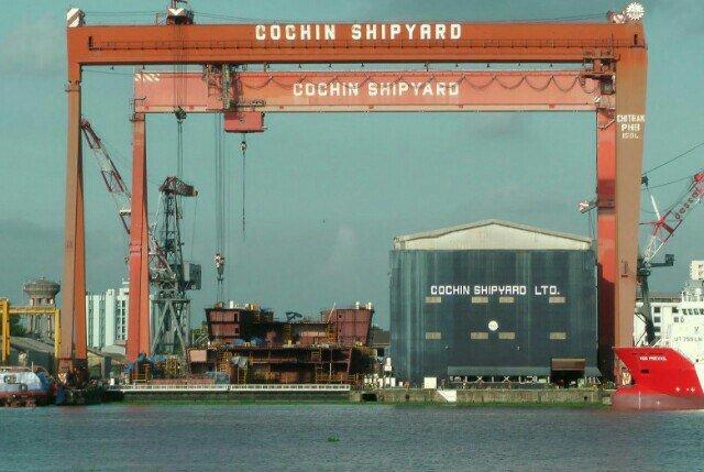 Cochin Shipyard. PIC: @thozhilnedam