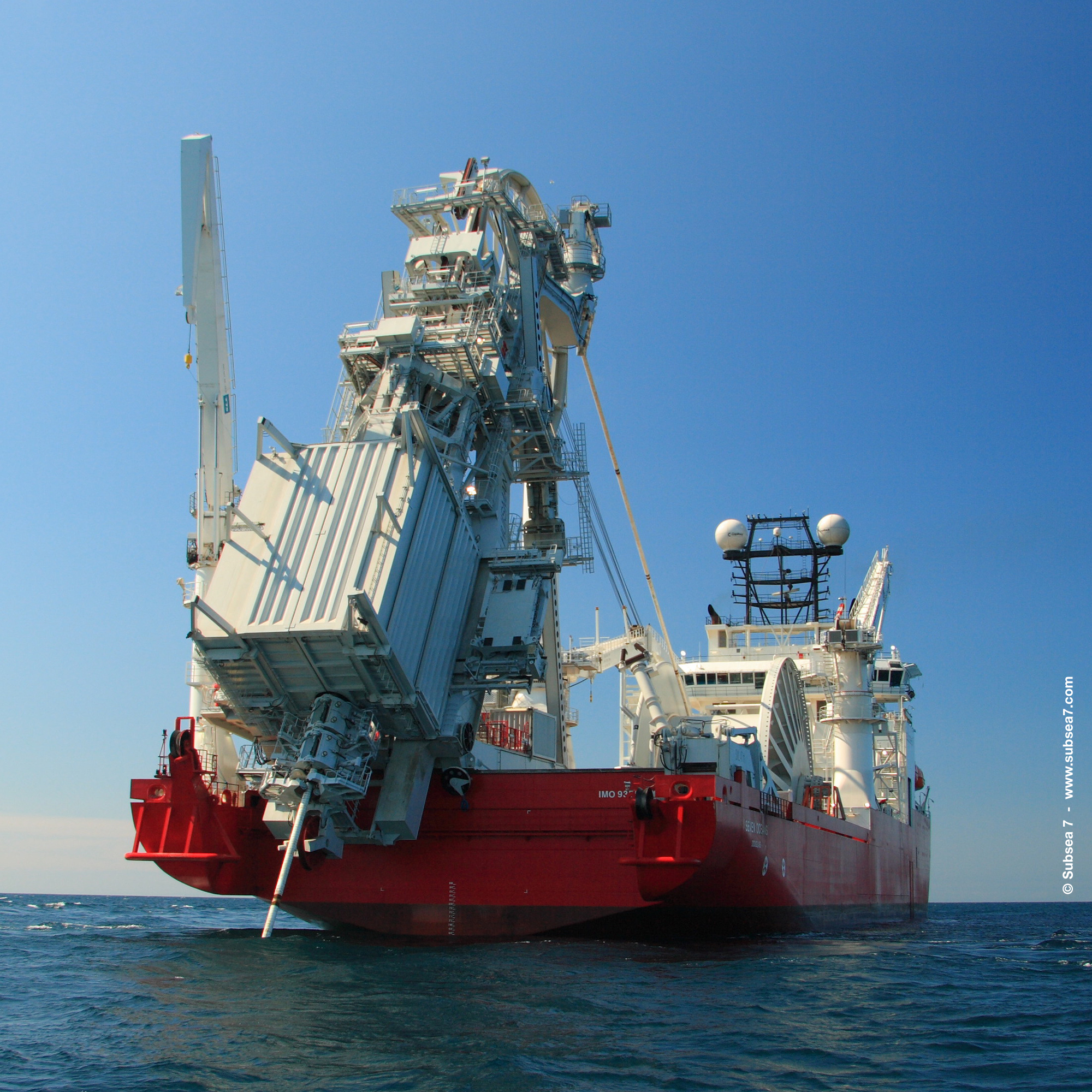 A Subsea 7 reel lay vessel