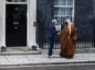 Theresa May, U.K. prime minister, left, greets Mohammed bin Salman, Saudi Arabia's crown prince, outside number 10 Downing Street in London, U.K., on Wednesday, March 7, 2018. Photographer: Luke MacGregor/Bloomberg
