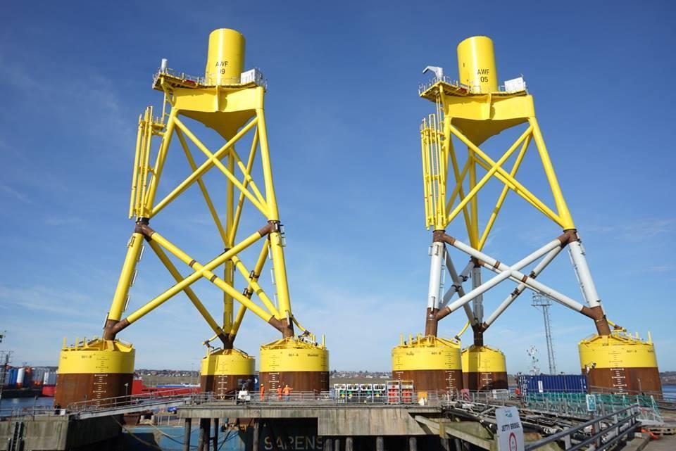 Aberdeen Offshore Wind Farm innovatice suction bucket jackets.