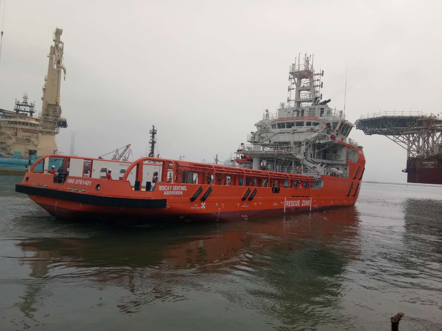 Biscay Sentinel is expected to arrive in Aberdeen in May.