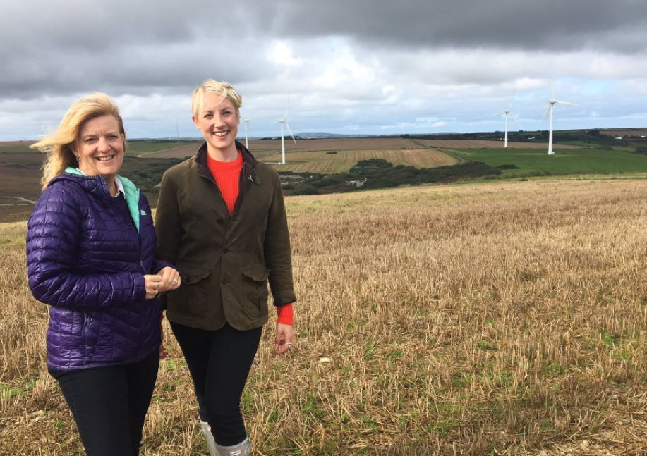 RenewableUK's Emma Pinchbeck (right) on BBC's Countryfile.