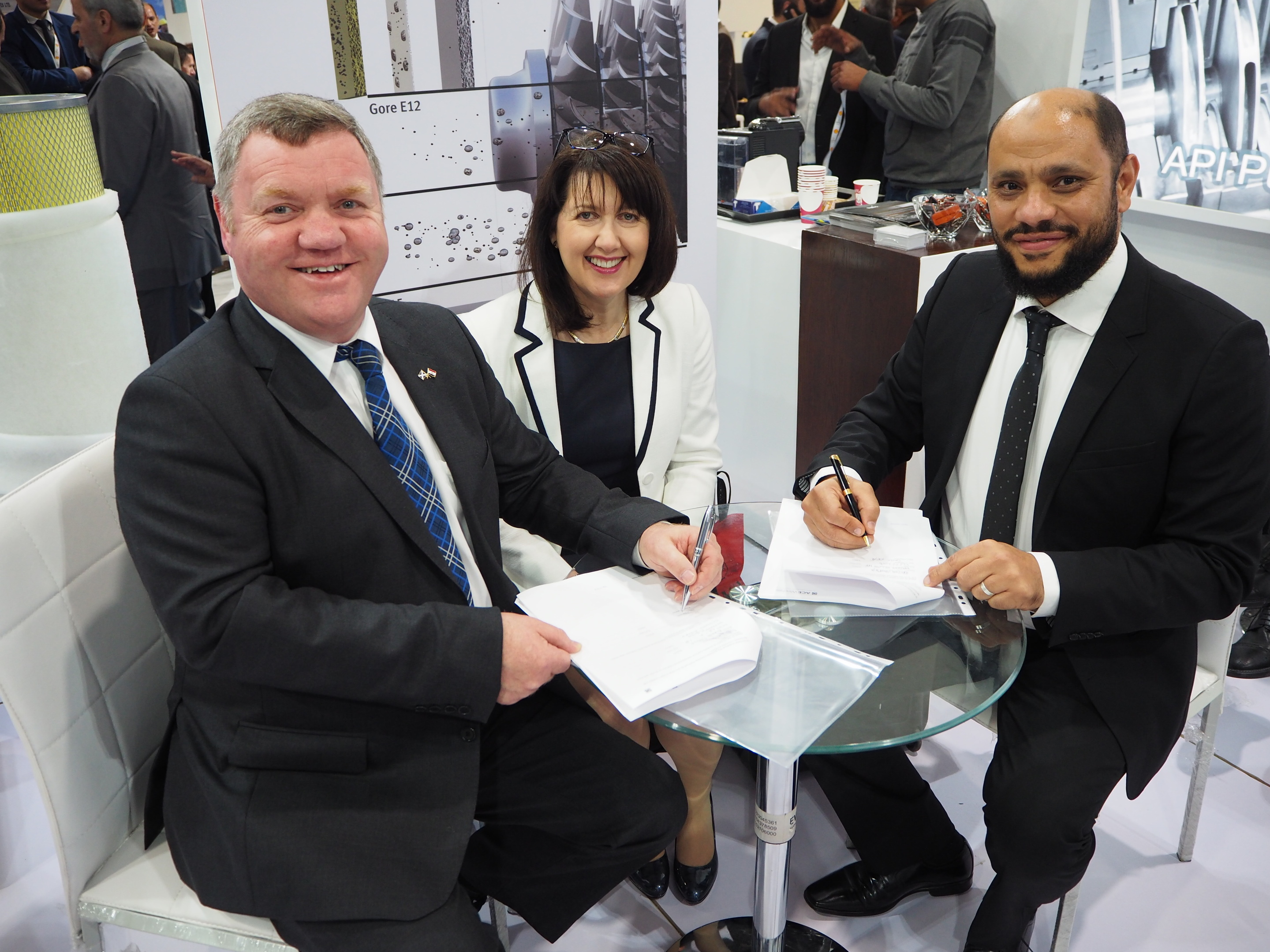 Alfie Cheyne, CEO of Ace Winches (left), Valerie Cheyne, CCO (middle), and Hazem Elleithy CEO of Petro Consult.