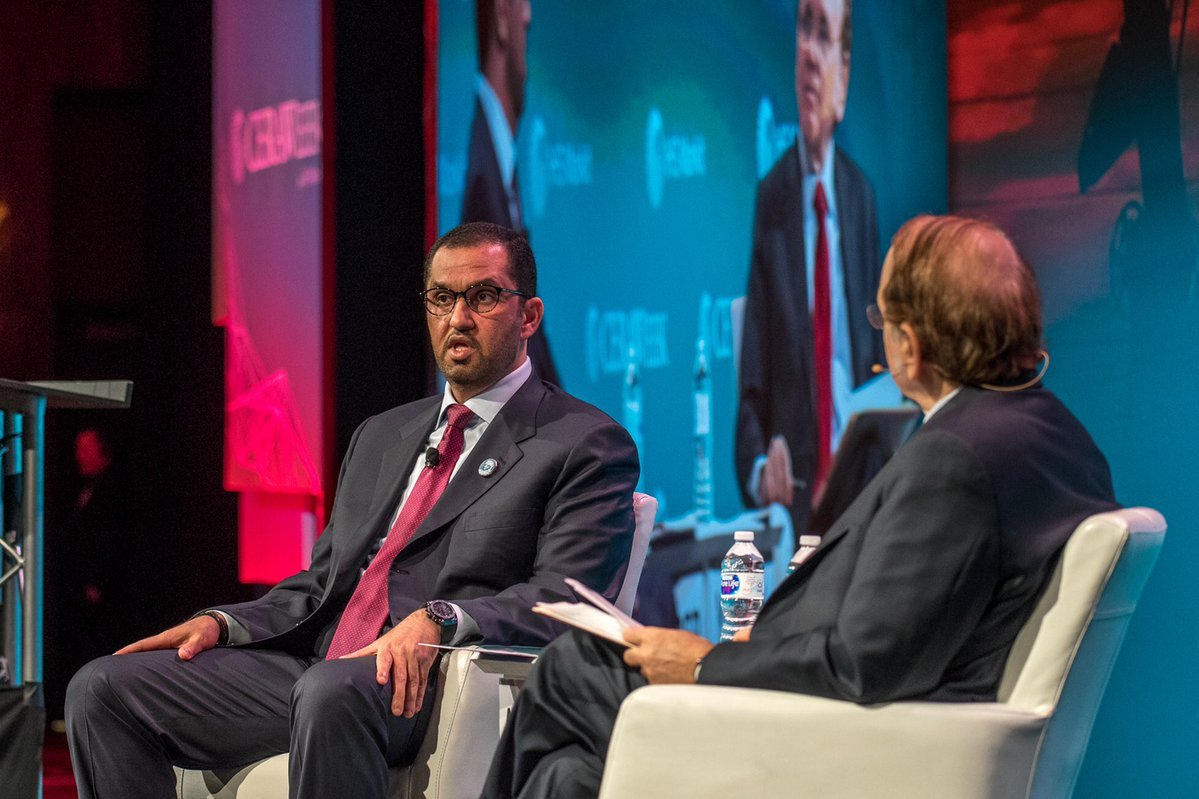 Adnoc chief executive Ahmed Al Jaber at the CeraWeek conference