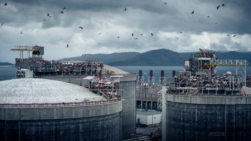 The LNG plant at Melkøya.