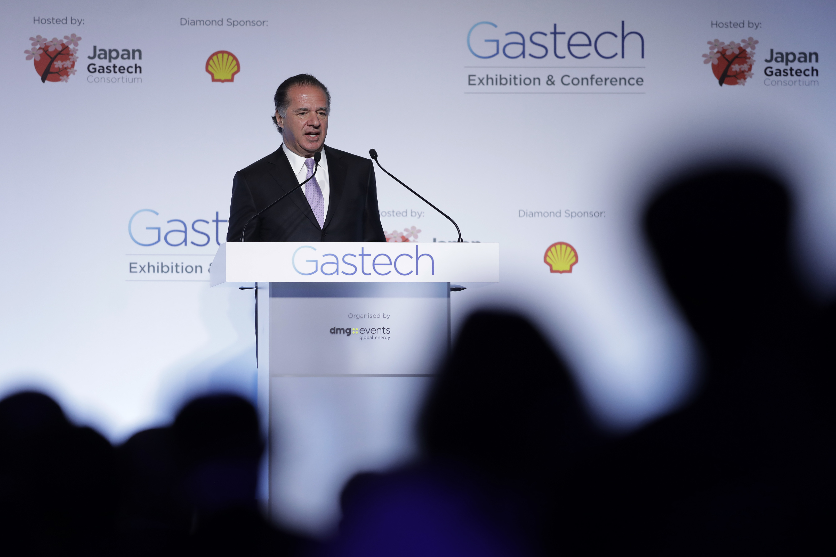 Charif Souki, co-founder and chairman of Tellurian Inc., speaks at the Gastech Exhibition & Conference in Chiba, Japan, on Tuesday, April 4, 2017. The global gas and liquefied natural gas (LNG) conference will continue until April 7. Photographer: Kiyoshi Ota/Bloomberg