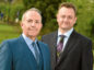 Elevator chief executive Gary McEwan and Malcolm Buchanan, managing director of Corporate and Commercial Banking in Scotland for RBS.