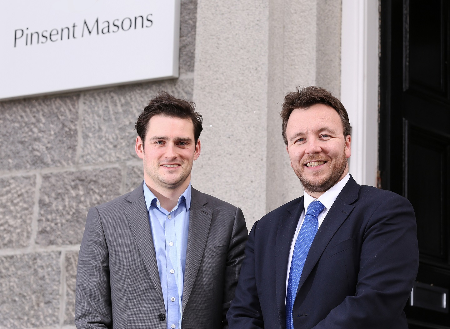 Pinsent Masons Partner Martin Ewan (left) with TechX delivery manager Stuart MacKinven