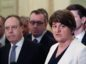 DUP leader Arlene Foster (right) and Deputy DUP leader Nigel Dodds (left)  Niall Carson/PA Wire