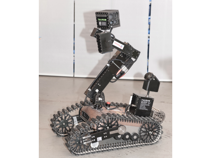 The machine can perform visual inspections and read dials, level gauges and valve positions.