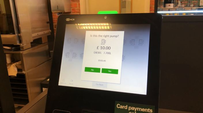 One of the new self-checkouts