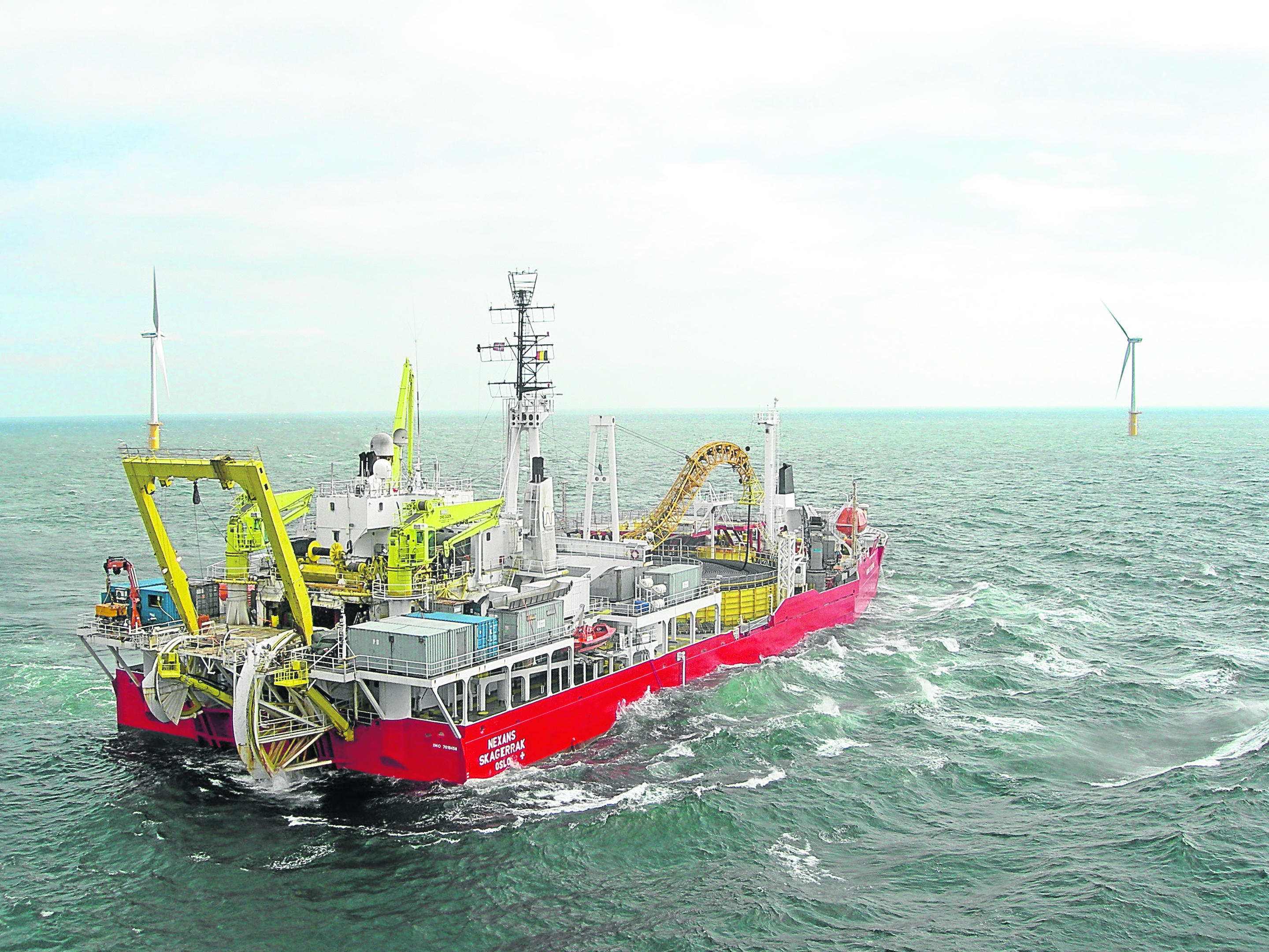 The Skagerrak cable laying vessel.