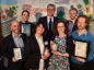 Shell Springboard Awards and Networking 2018 at Aberdeen Exhibition and Conference Centre (AECC). Picture of winners (L-R) Benjamin Sallon, Adrian polak, Rebecca Lewis, John MacArthur, Franziska Srocke, Alex Bak and Matt Taylor.