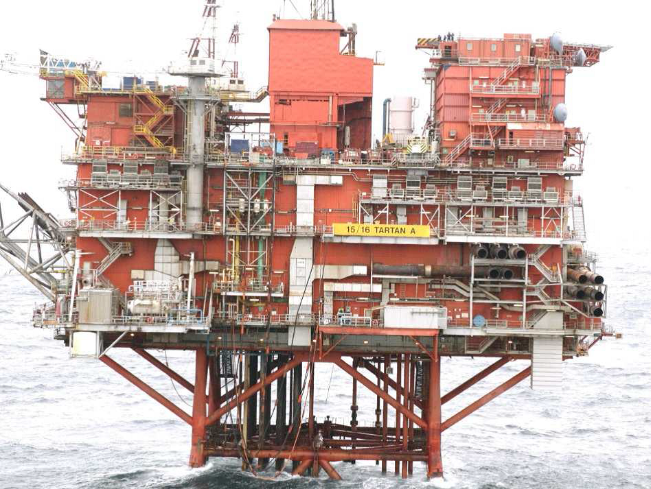 Repsol Sinopec Resources UK's Tartan Alpha platform.
