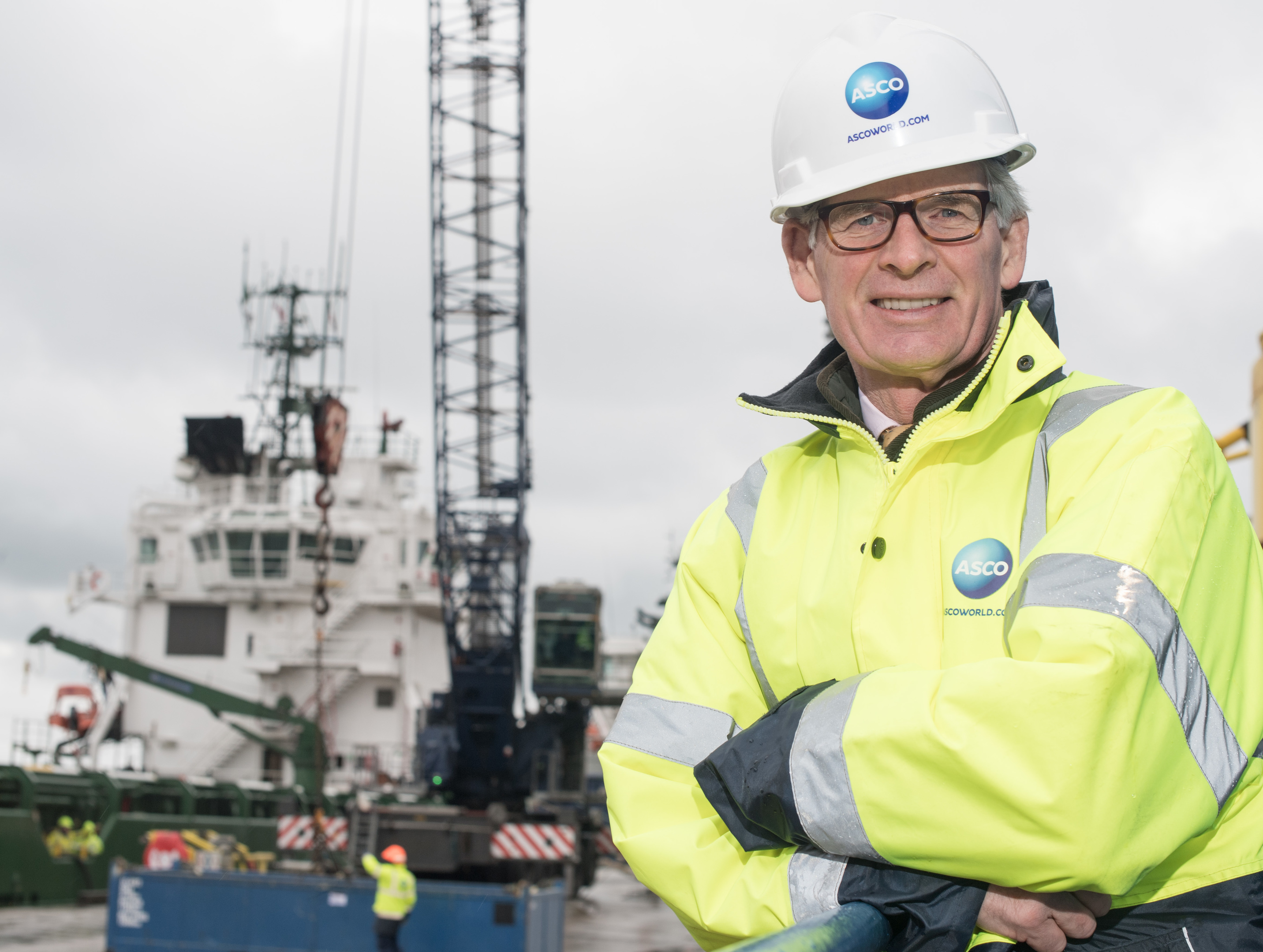 Alan Brown, group CEO at ASCO   Pictured is Alan Brown, CEO of ASCO at Peterhead South Base.  Picture by Michal Wachucik / Abermedia