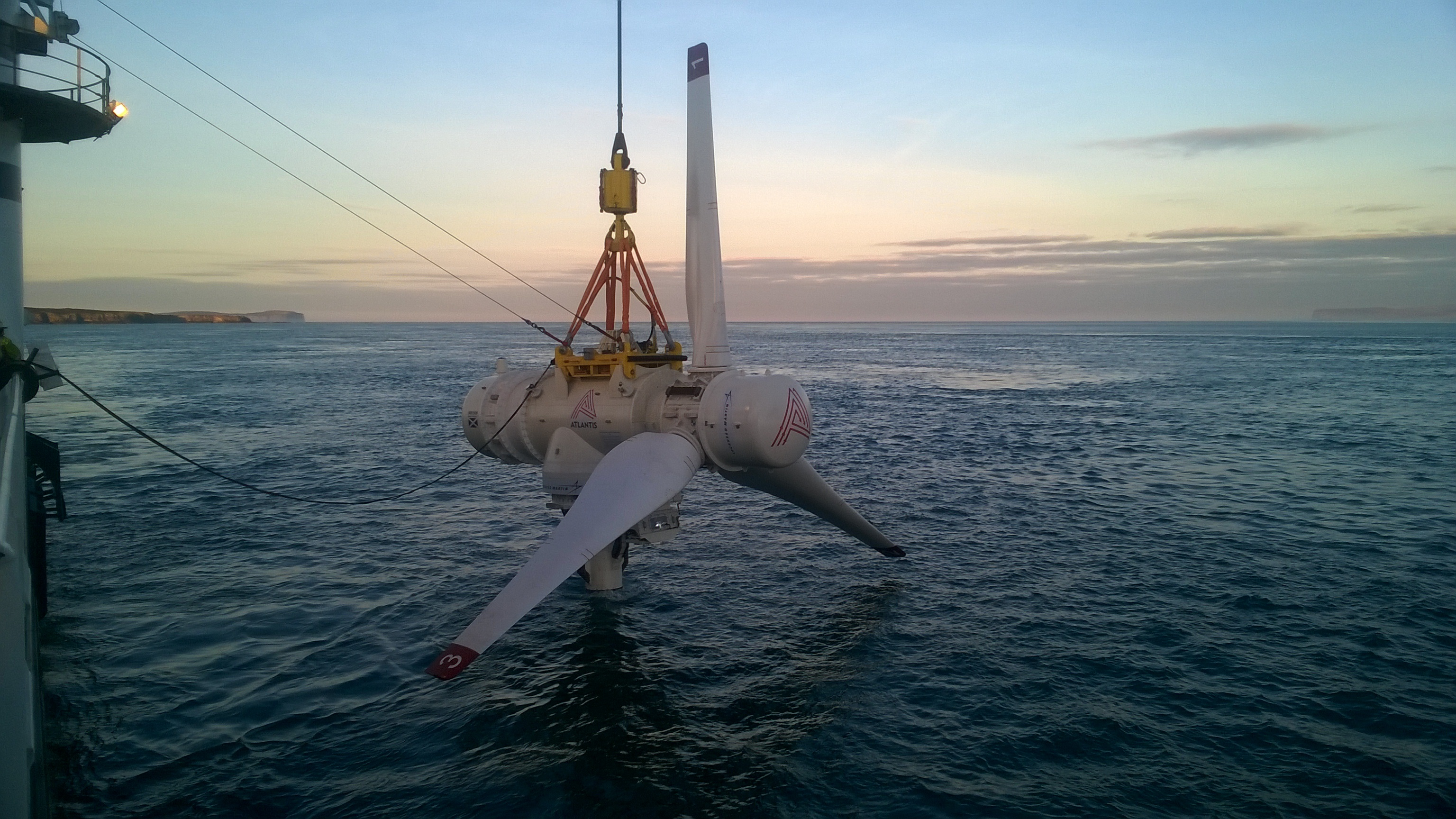 The project would be powered by the MeyGen tidal array north of the Scottish mainland.