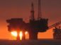WATCH: North Sea oil rigs at sunset