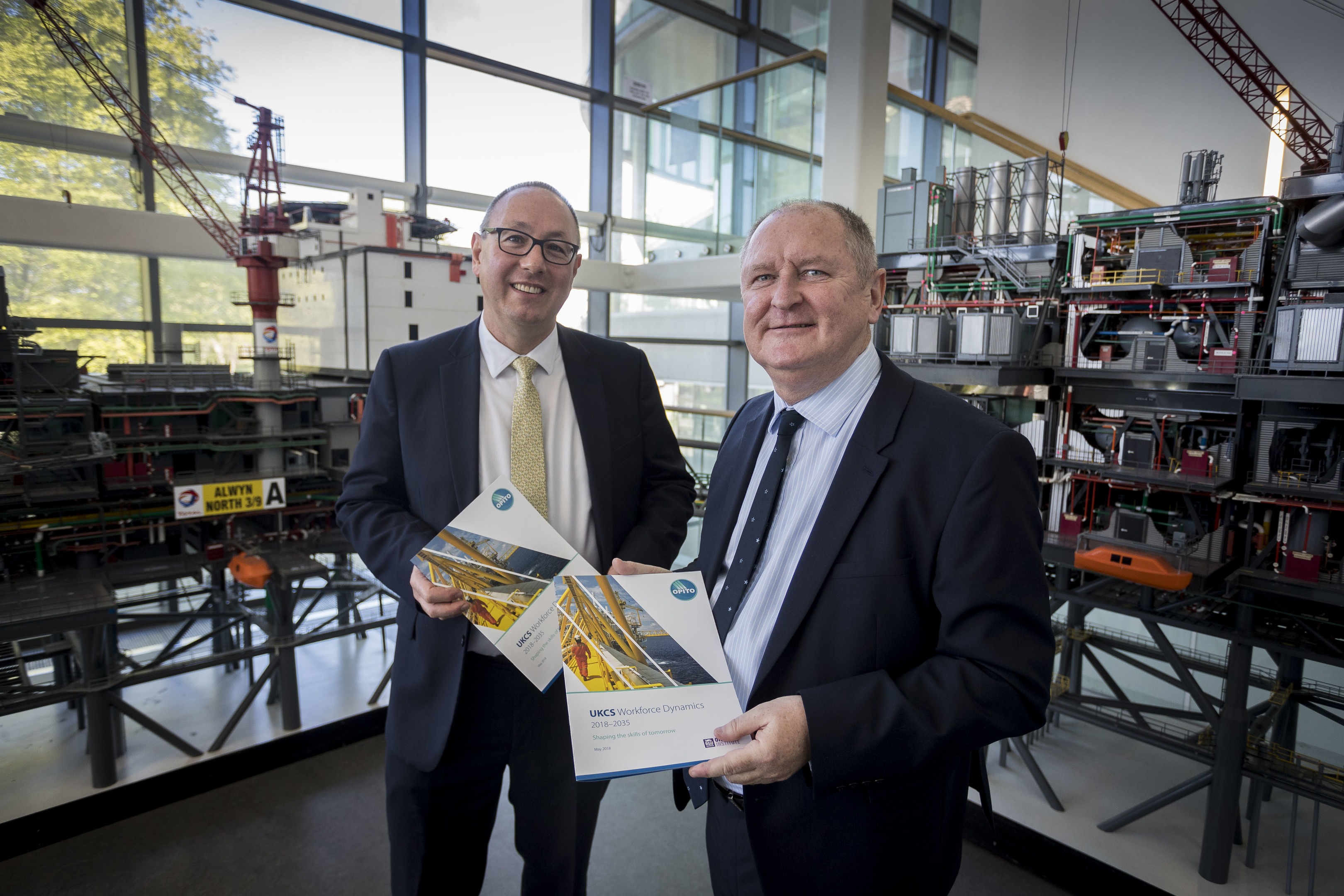 Professor Paul de Leeuw and John McDonald at the launch of the review earlier this month.