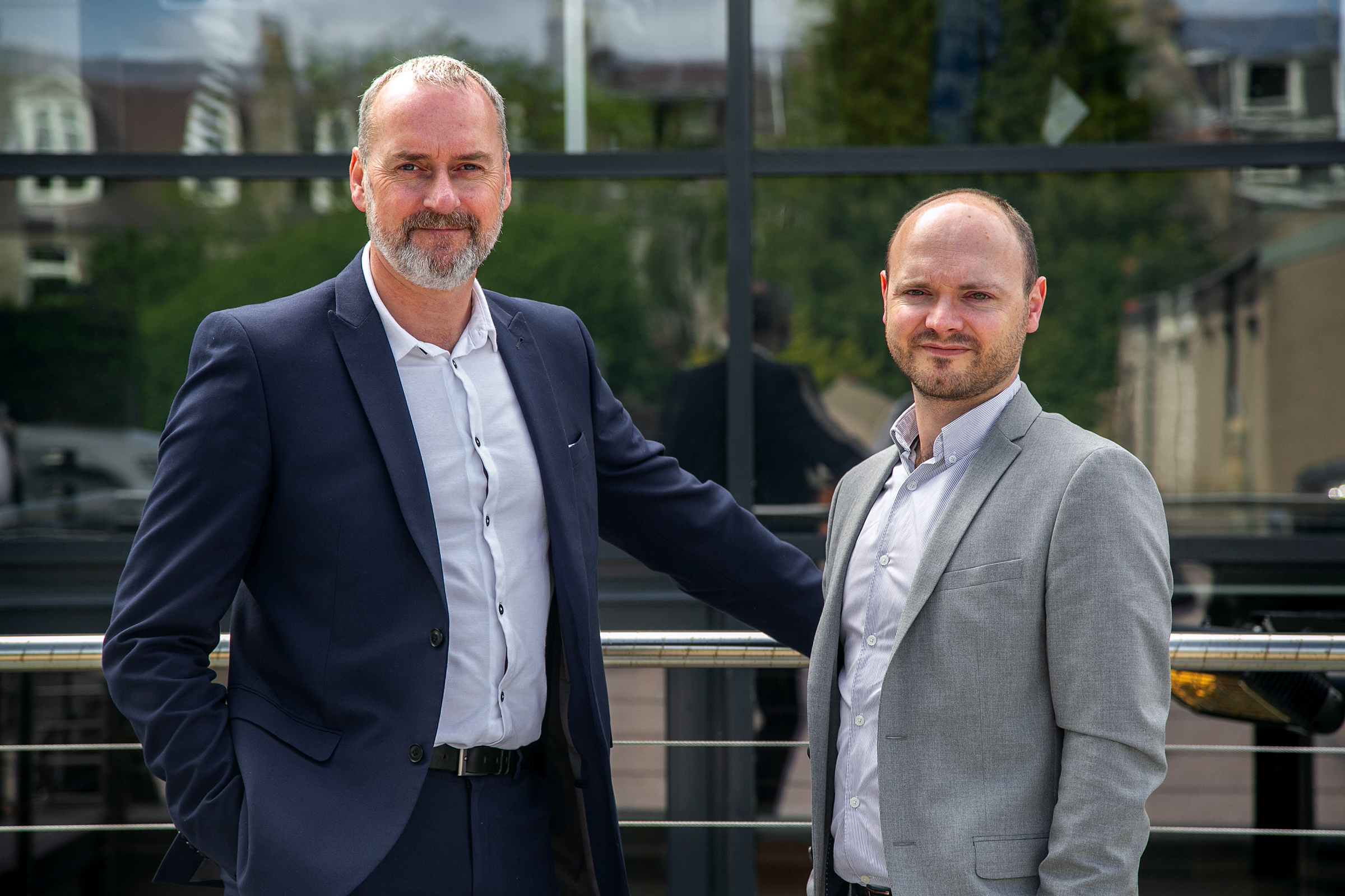 Managing director Graeme McGuire (left) and business development manager DJ Robertson of AV One Solutions at the Oil & Gas Technology Centre, Aberdeen.