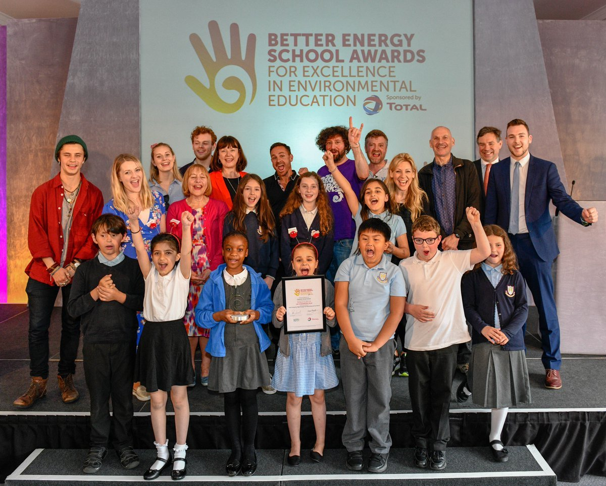 Hanover Street School 'UK Champions of the 2018 Better Energy School Awards' at the awards ceremony yesterday at London Zoo (photo courtesy of Christian Trampeneau)