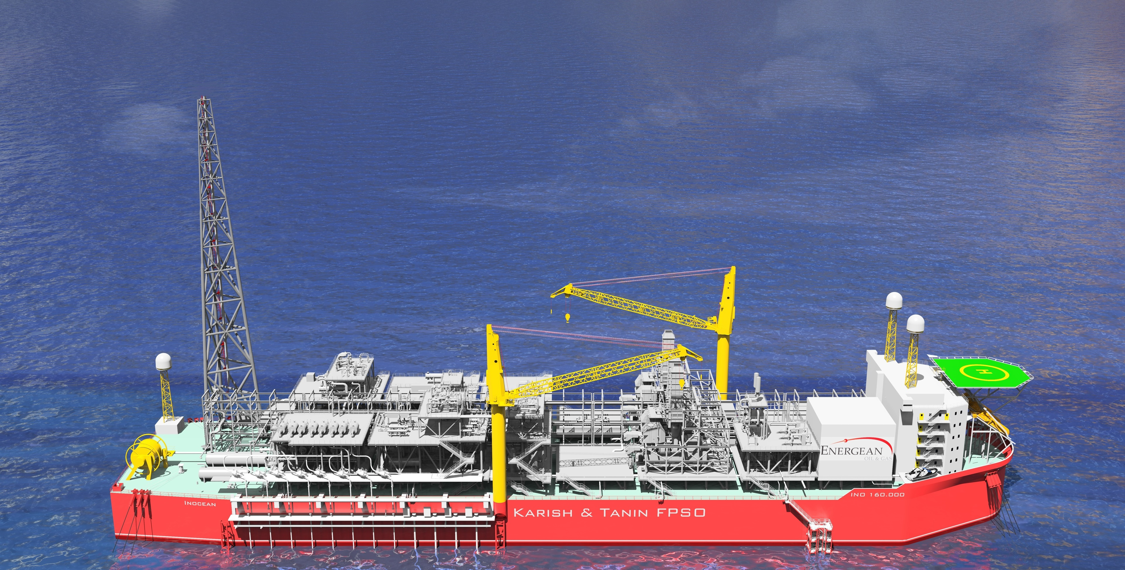 An artist's impression of the Karish and Tanin Floating Production Storage and Offloading unit