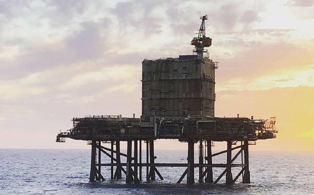 BP's Miller platform was decommissioned last year.
