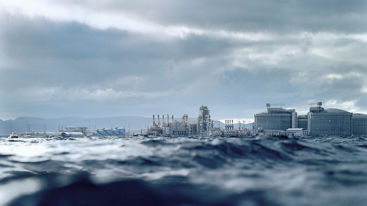 The Melkoya terminal near Hammerfest. Picture by Equinor.