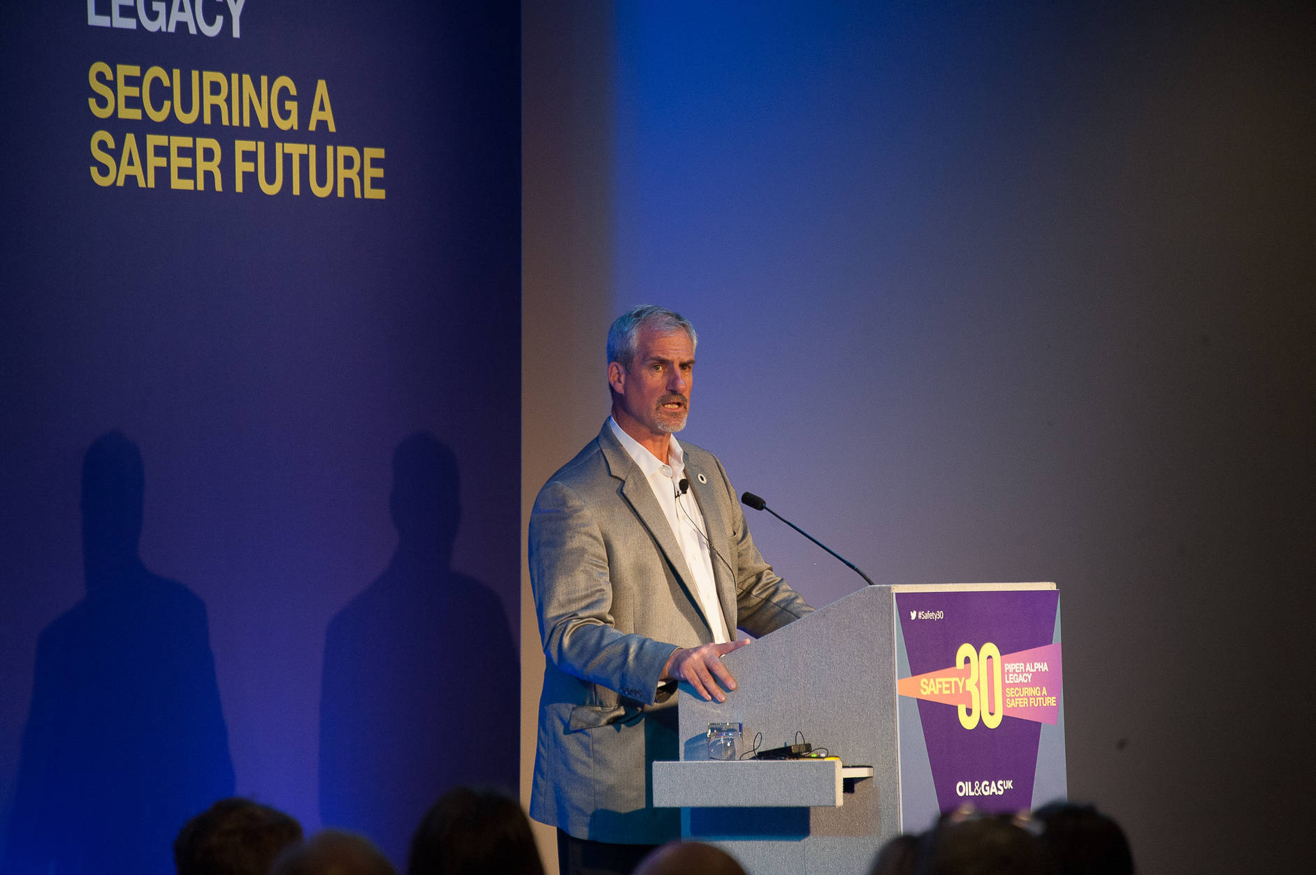 Steve Rae, a survivor of Piper Alpha, closed the Safety 30 conference.