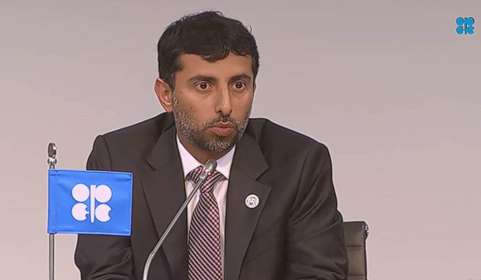 Opec president Suhail Mohammed Faraj Al Mazroui