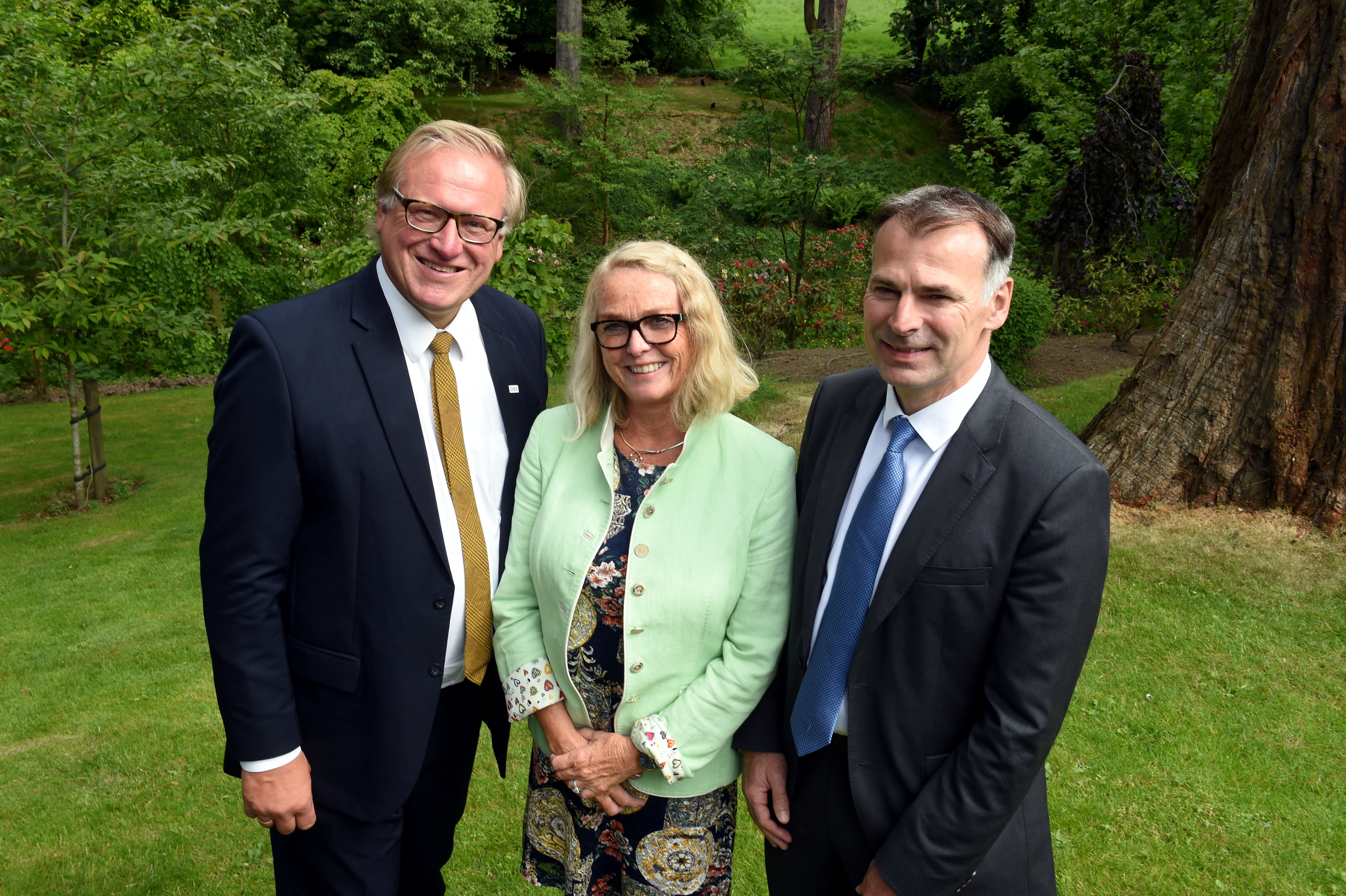 From left: Leif Johan Sevland, president and CEO of ONS: Lise Dean, sales and distribution director of Wideroe and Jamie Stark, partner in Burness Paull's corporate finance division.