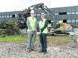 Iain Landsman of CBRE, left, and Graeme Nisbet at the demolition site.