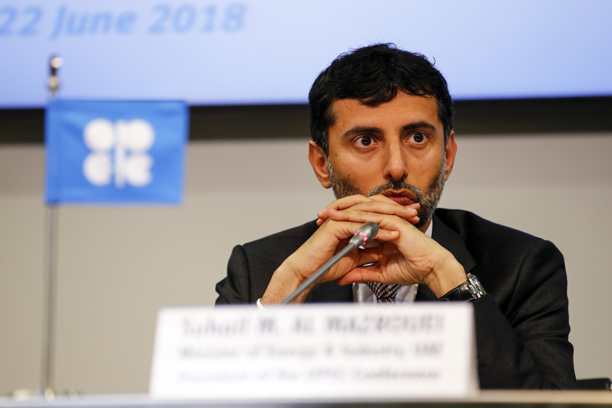 Suhail Mohammed Al Mazrouei, United Arab Emirates' energy minister and president of the Organization of Petroleum Exporting Countries (OPEC)