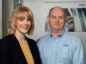 Dräger UK Managing Director Mike Norris (right) welcomes Kelly Murray at the company's Aberdeen base