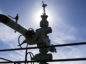 """A completed Royal Dutch Shell Plc """"Christmas tree"""" well stands near Mentone, Texas, U.S., on Thursday, March 2, 2017. Exxon Mobil Corp., Royal Dutch Shell and Chevron Corp., are jumping into American shale with gusto, planning to spend a combined $10 billion this year, up from next to nothing only a few years ago. Photographer: Bloomberg/Bloomberg"""